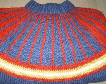 Vintage Tappit Hen Edinburgh Hand Knit Wool Sweater S L