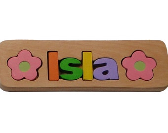 WOODEN PUZZLE NAME - Isla