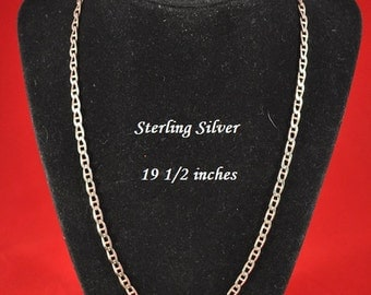 Vintage Sterling Silver Chain Necklace, Sterling Chain, 19 1/2 inches, Silver Chain, Vintage Chain, Long Sterling Necklace, GS393