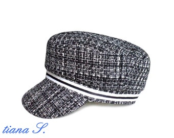 CAP, black and white