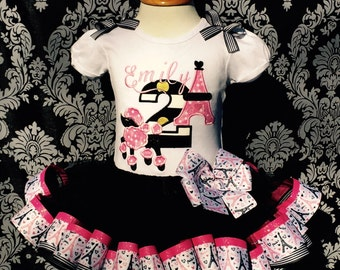 Cute In Paris Poodle Ribbon Tutu Set