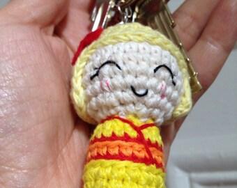 kokeshi, Amigurumi Keychain Keyring