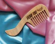Personalized wooden comb, Fear the beard. Engraved comb,For men, for him, Beard comb, moustache comb, hair comb Idea for gift Dad gift