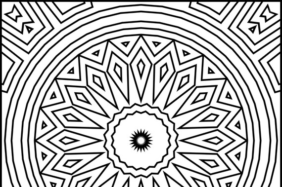 Square Mandala Design Printable