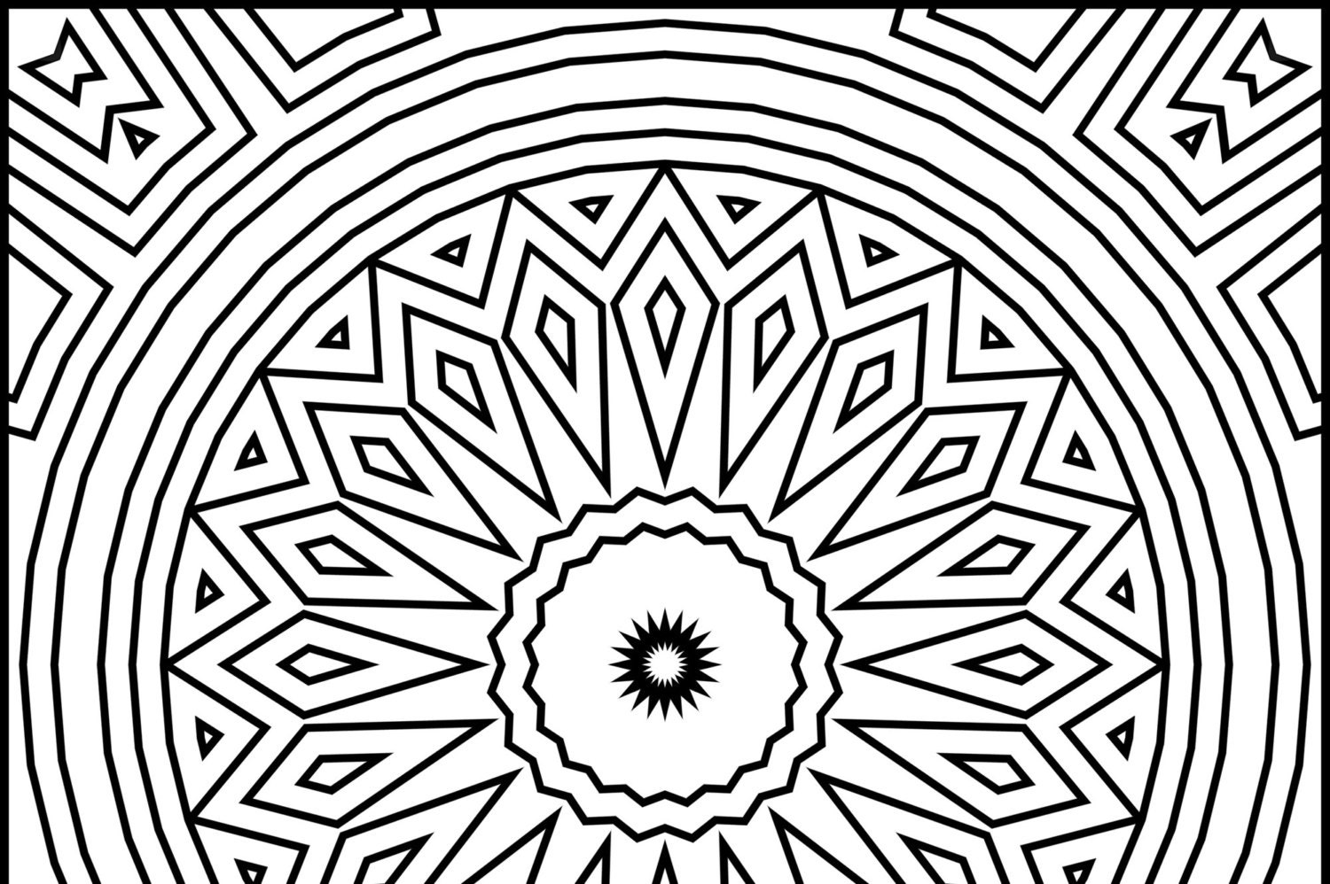 square mandala coloring pages - photo#1