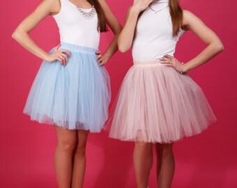 AIRSKIRT colour Sky Blue Mini Tulle skirt Tutu skirt