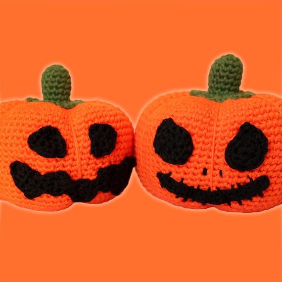 Halloween Pumpkin Amigurumi : Halloween Pumpkins Pattern. Amigurumi PDF Orange Decorative