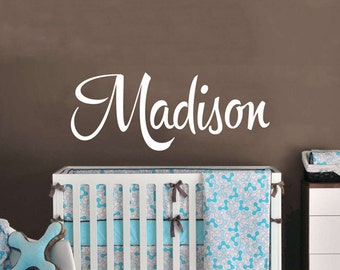 Baby Name Nursery Wall Decal!!