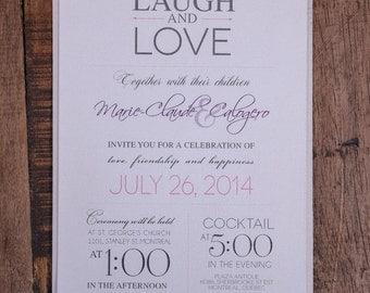 Modern Wedding Invitation, Rustic wedding invitation, Rustic invitation, modern invitation, fun wedding invitation, quote invitations,