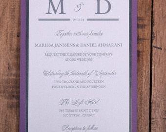 Purple Wedding Invitations, Purple Invitations, Purple Wedding Invitation, Purple Invitation, Silver Wedding Invitations. Silver Invitations