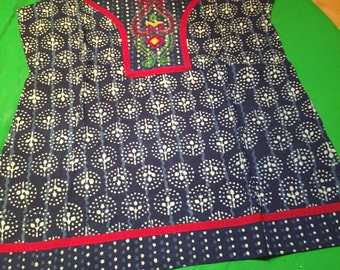 Top, Indian, ethnic, batik, embroidery, handmade top