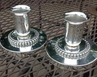 Vintage Sandborn solid sterling silver candlesticks 1940's - 1950's  3-D Blossom #103