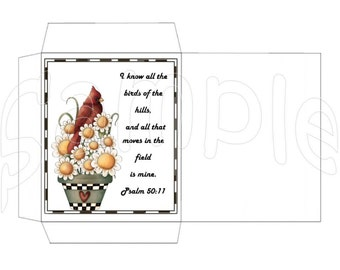 Birds of the hills Instant Download Digital Printable Seed Packet