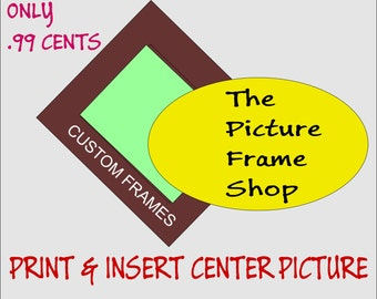 Print center picture, make me gift ready, upgrade my frame TPFS