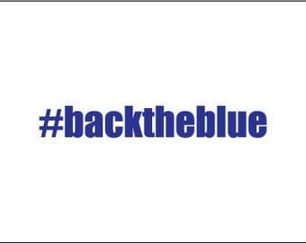 Back the blue decal, thin blue line decal, police yeti decal, vinyl car decal, back the blue yeti decal, police wife decal