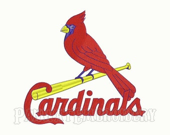 5 Size St Louis Cardinals Logo Embroidery Designs, Machine Embroidery Designs, Baseball Embroidery Designs - INSTANT DOWNLOAD
