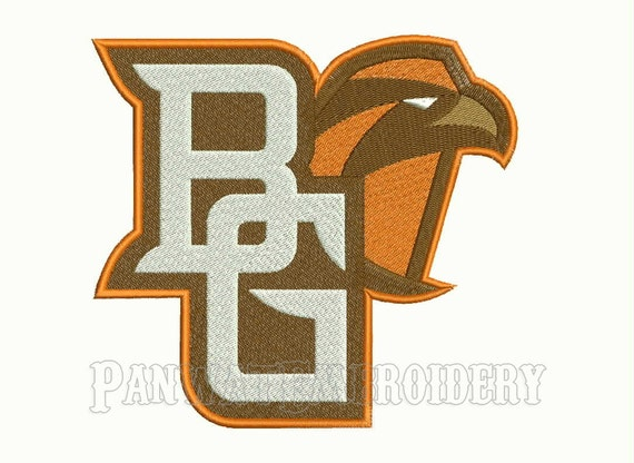 Size bowling green falcons logo embroidery designs machine