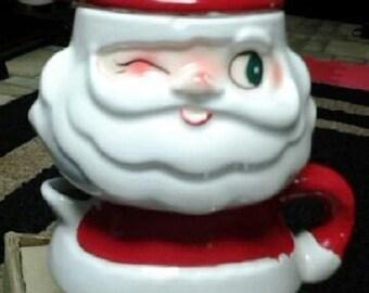 Holt Sugar and Creamer Santa
