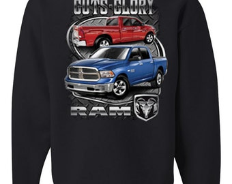 Licensed Dodge Guts And Glory Ram Hemi Crew Neck Sweatshirt Dodge Truck 1500 2500 100490-CS