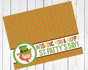 leprechaun bag toppers st patricks day st pattys day printable clover leaf - Leprechaun Bag Toppers Printable