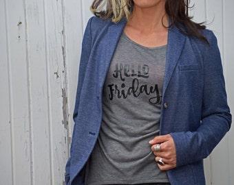Hello Friday Shirt: open back yoga shirt