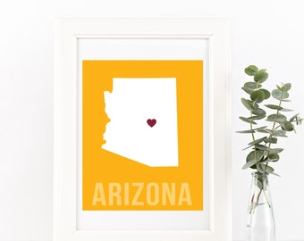 Arizona Home Print – Custom Arizona Print, Arizona Wall Art