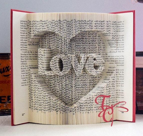 Bekannte Gefaltet Buchkunst Liebe im Herzen Buch Falten Schneiden UC49