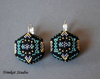 Tytania earrings tutorial - pdf