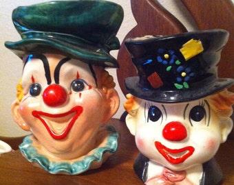 Clown head vase