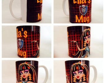 personalised mug cup monster high cleo de nile egypt ghoul scary present gift cartoon