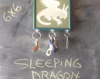 Sleeping Dragon mirrored key holder