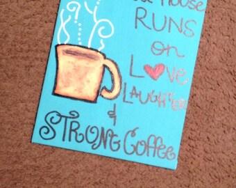 Coffee Kitchen Canvas