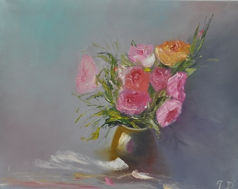 Roses - oil painting (20x16)