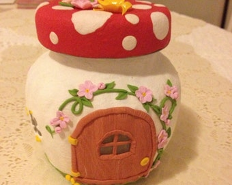 Fantasy decorated jars / Fairy house / Sweet cake Fairy
