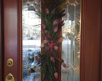 Winter Door Swag