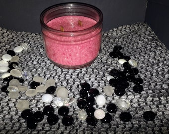 Scented wood wick candle