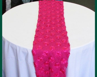 "3 Pcs. 14"" X 108"" Guipure DA26 Table Runner Wedding Decoration Fuchsia"