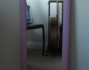 Tall wall mirror in pink, shabby chic distressed for COLLECTION or up to 50 miles delivery