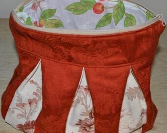Washbag XL of toilet accessories jewelry PIÈCE UNIQUE fabrics Vintage Kinderkissen Tasche made in France 24 x 26 cm