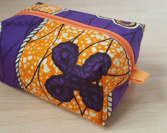 Large African print wash bag / toiletry bag / cosmetic bag / makeup bag / box / case