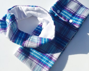 Purple/blue Flannel Scarf