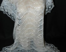 warm openwork scarf from the Angora goat down, gift for women, knitted scarf made of goat down