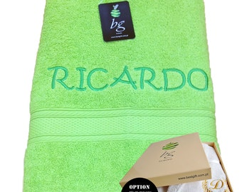 Personalized Bath Towels - Bath towel, Hand towel - Ref. Aqua