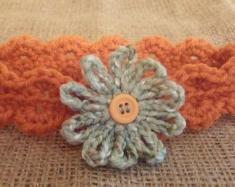 Infant  Autumn orange  headband/earwarmer