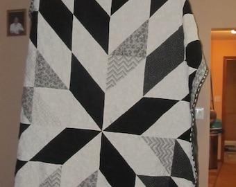 Black & White Star Quilt