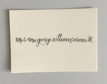 Custom Handwritten Calling Cards