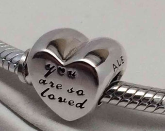 New Pandora You are so Loved Heart Charm