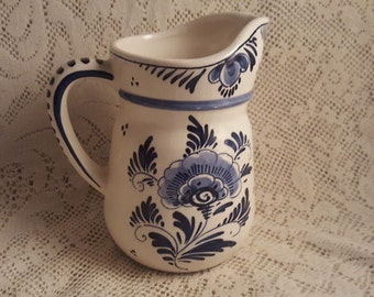 Royal Distel Pitcher Holland Blauw Delfts
