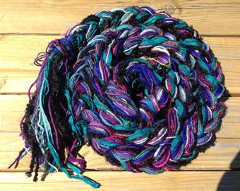 Multicolored Braided Scarf: Twilight