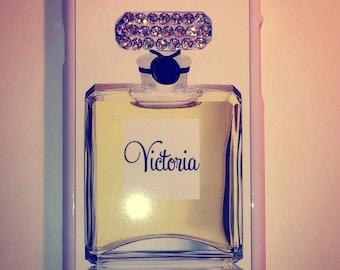Personalised Perfume bottle Swarovki Crystallised Phone Case